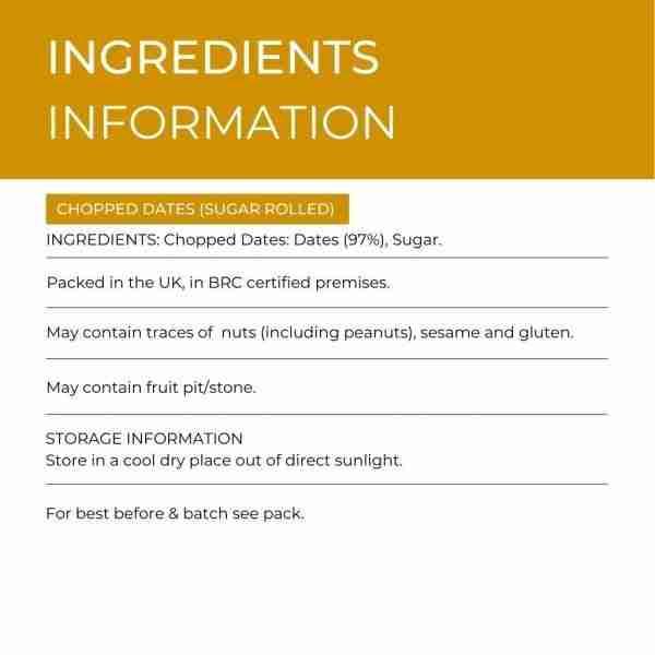 Chopped Dates (Sugar Rolled)