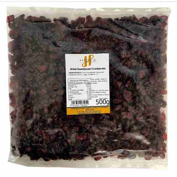 Dried Sweetened Cranberries 500g