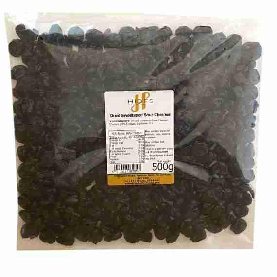 Dried sweetened sour cherries 500g