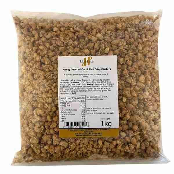 Honey toasted oat & rice crisp clusters 1kg