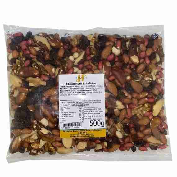 Mixed nuts and raisins 500g