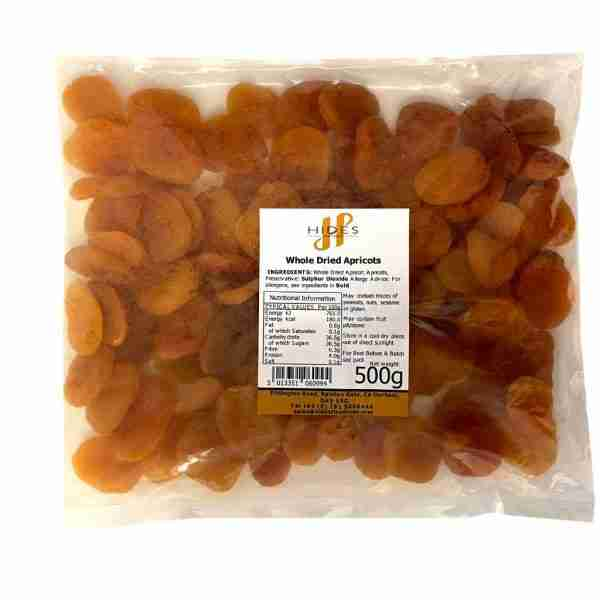 Whole dried apricots 500g