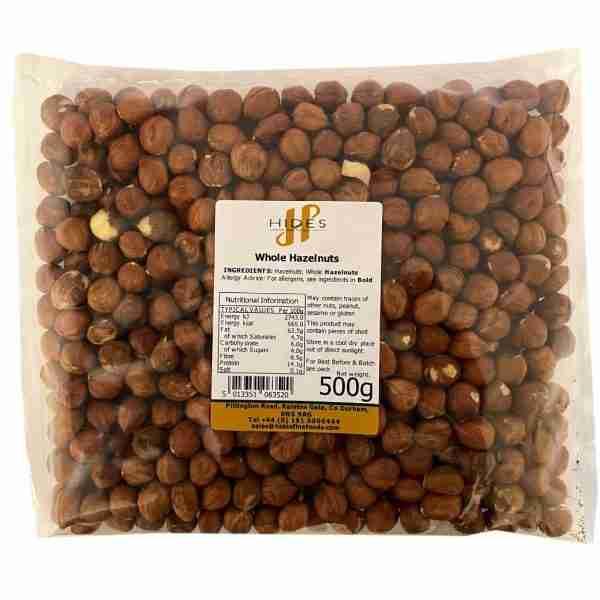 Whole hazelnuts 500g