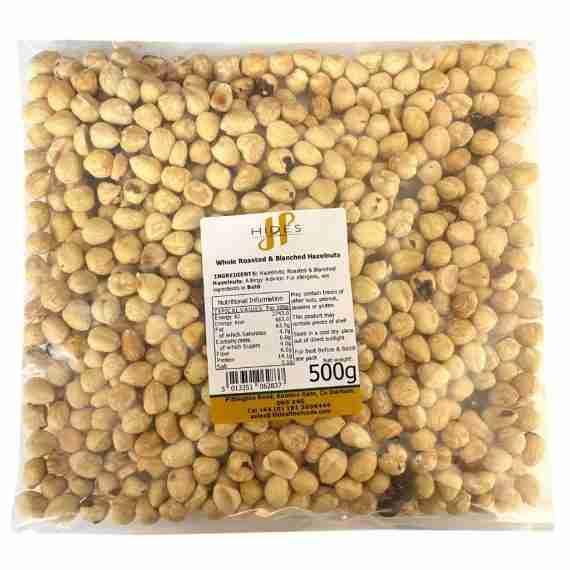 Whole roasted & blanched hazelnut 500g
