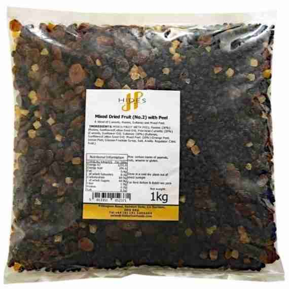 mixed dried fruit with peel 1kg